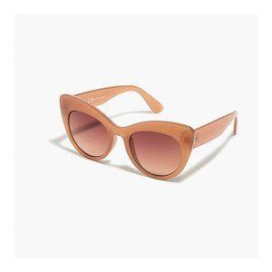 J. CREW NWT Warm Taupe UV Protection Cat Eye Cabana Sunglasses